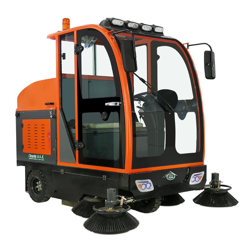 cleanle/洁乐美KM-2000驾驶式扫地车 全封闭道路吸尘扫地机 物业保洁电动清扫车