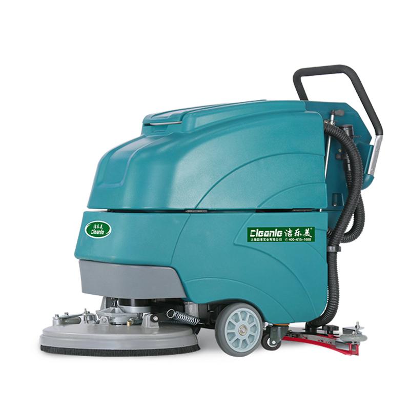cleanle/洁乐美A3L全自动手推式洗地机 工厂车间环氧地坪拖地机 车库吸水吸干机