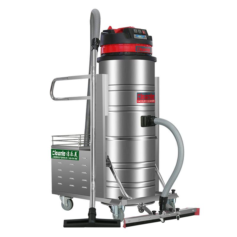 cleanle/洁乐美GS-2110P电瓶式工业吸尘器 车间粉尘卫生打扫电动吸尘机 100L不锈钢吸尘吸水机