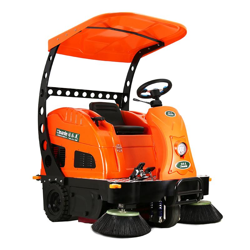 cleanle/洁乐美KM-V2A驾驶式扫地机 物业工厂扫地机清扫车加棚洒水扫地车