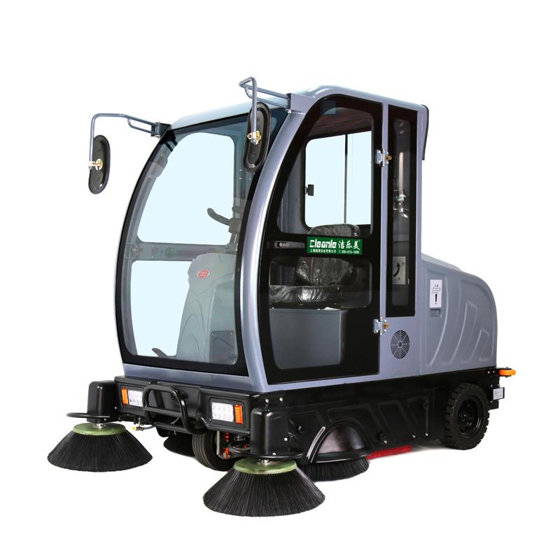 cleanle/洁乐美KM-V5电动扫地机 车站小区街道驾驶式自动扫地机全封闭式