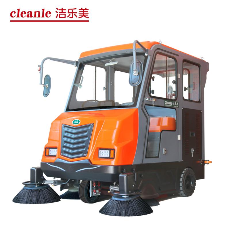 cleanle/洁乐美KM-V7驾驶式洗地机 马路清扫车 全封闭扫地车