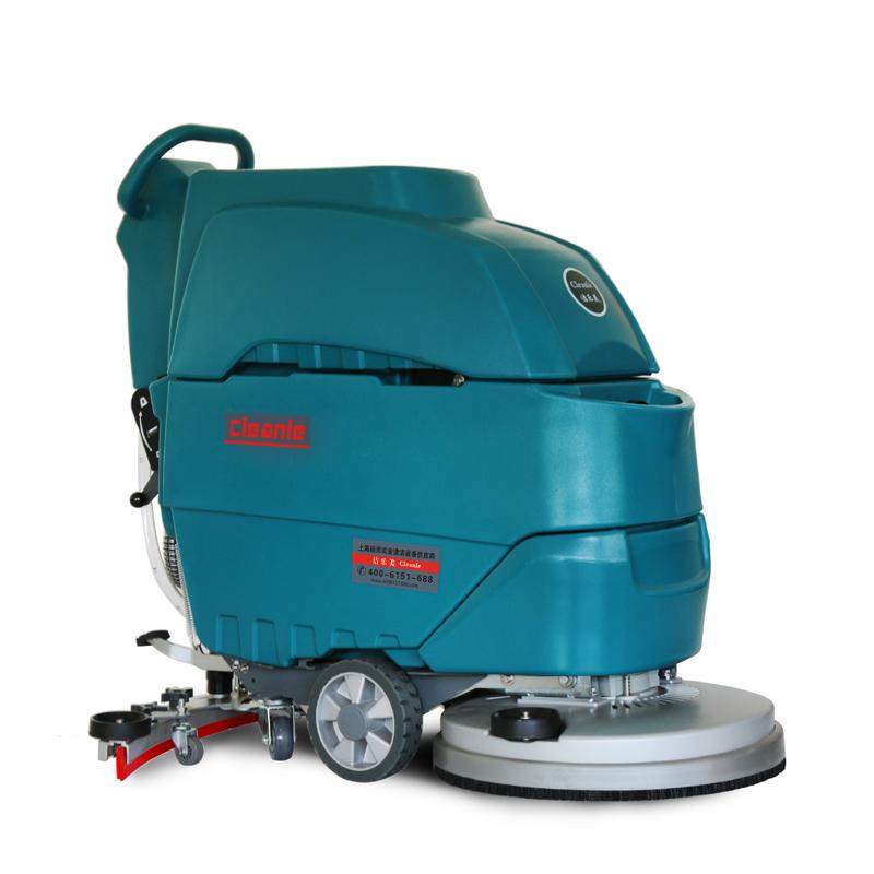 电瓶式洗地机工厂用工业擦地机免维护电瓶推地机