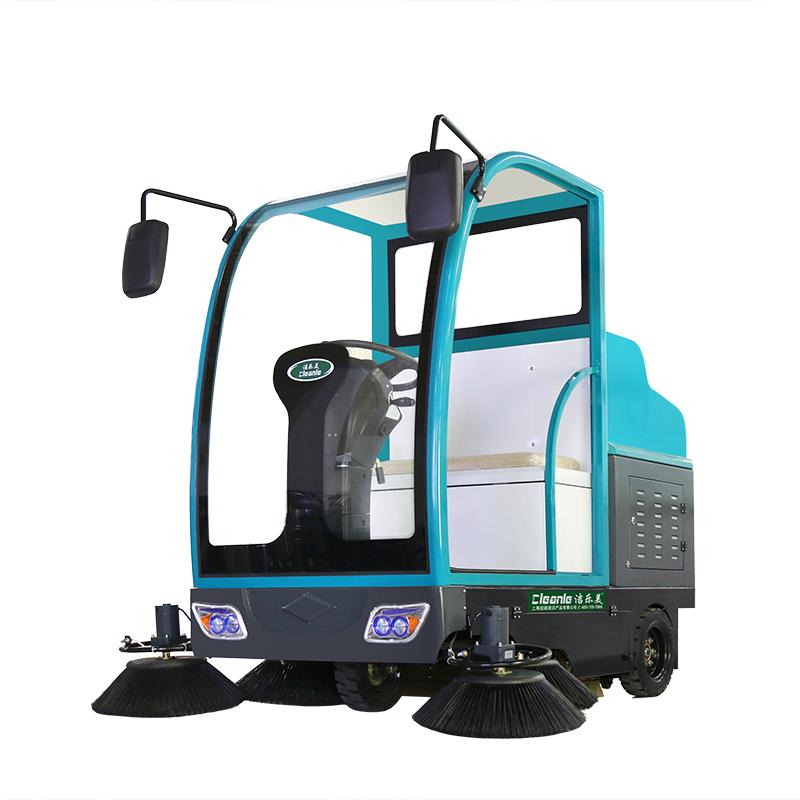 cleanle/洁乐美YSD-1900B驾驶式扫地机 电动滚刷清扫车 洒水吸尘扫地车