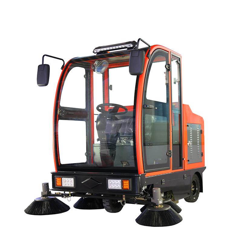 cleanle/洁乐美YSD-2100B驾驶式扫地车 全封闭道路吸尘扫地机 物业保洁电动清扫车