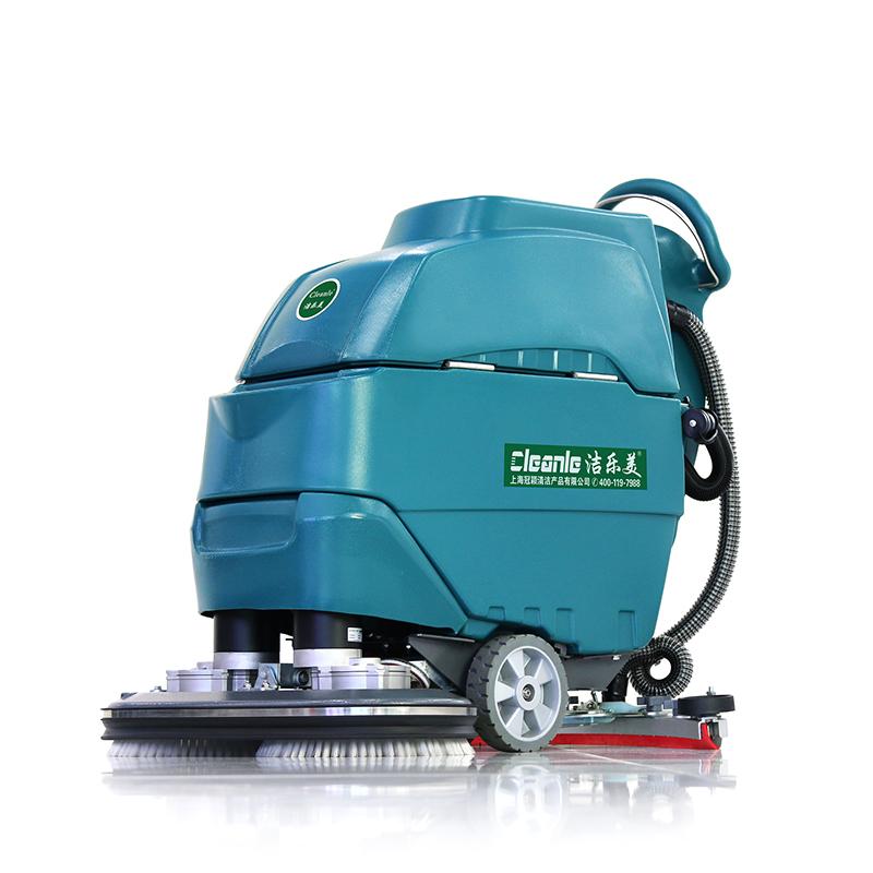 cleanle/洁乐美YSD-A6D洗地机 双刷手推式电动洗地机 商场超市小区物业保洁地面清洗机
